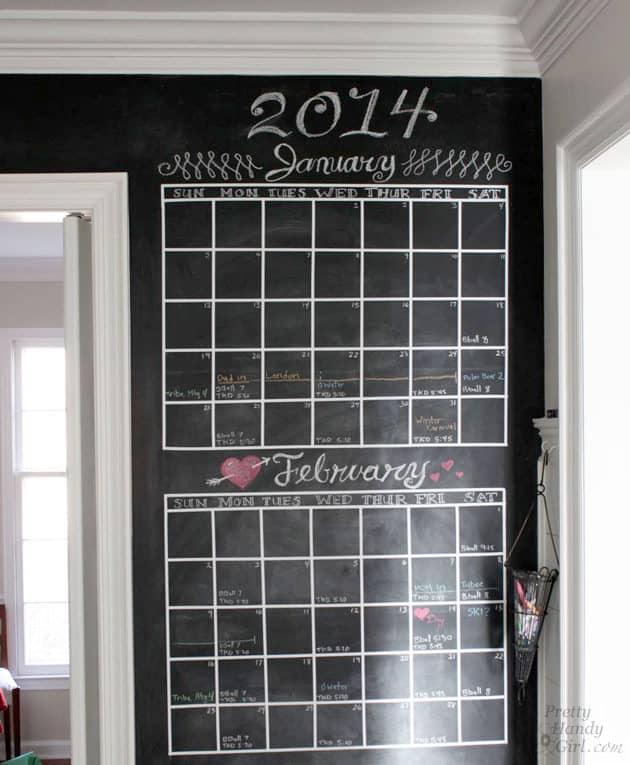 Diy chalkboard calendar pretty handy girl diy chalkboard calendar