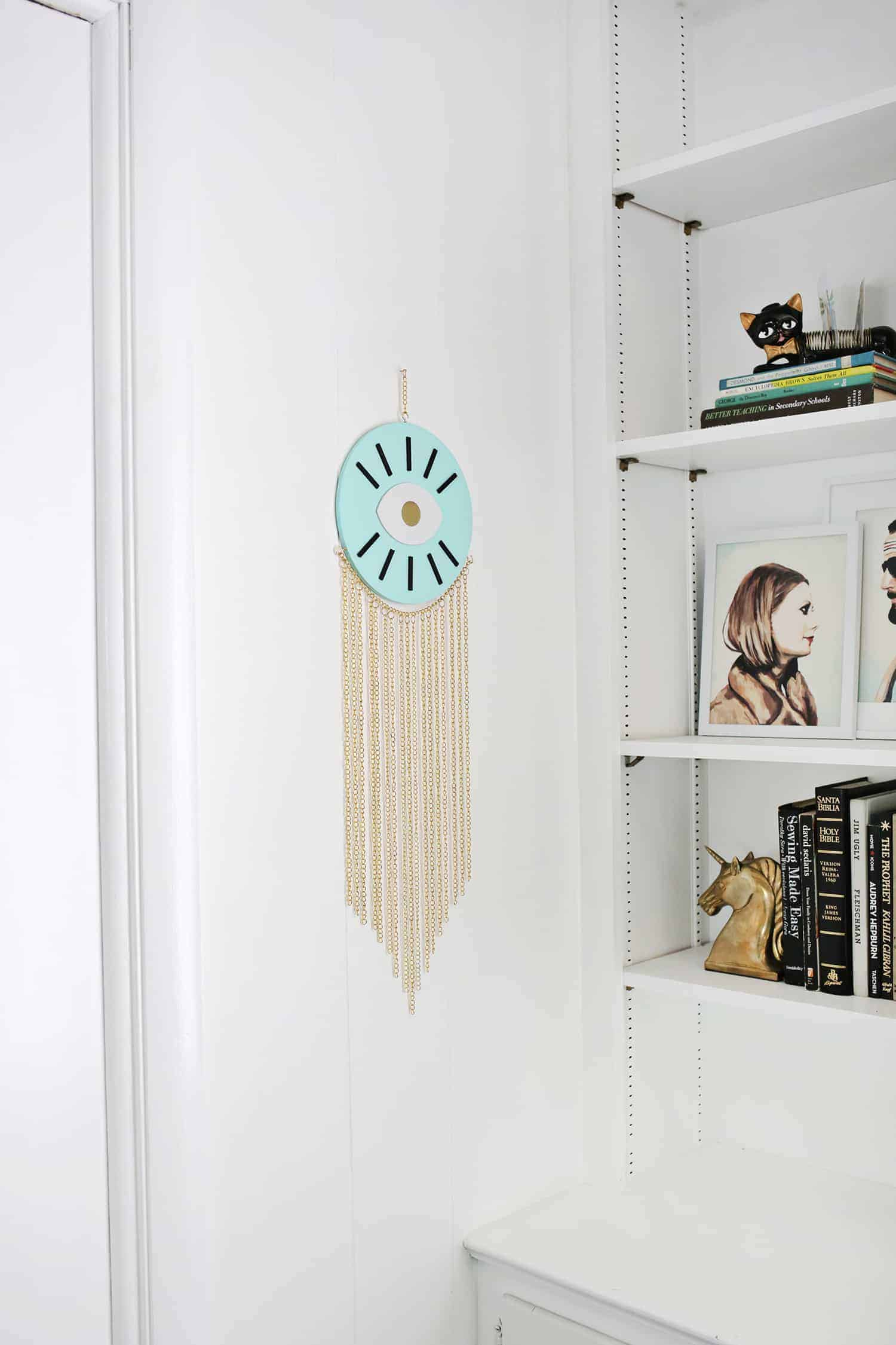 Diy gold chain wall hanging