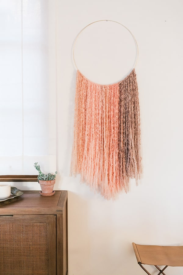 Diy gold ring wall hanging