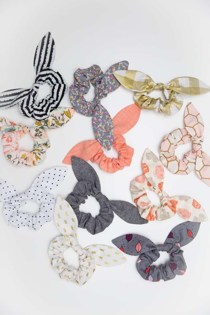 Diy knot scrunchies