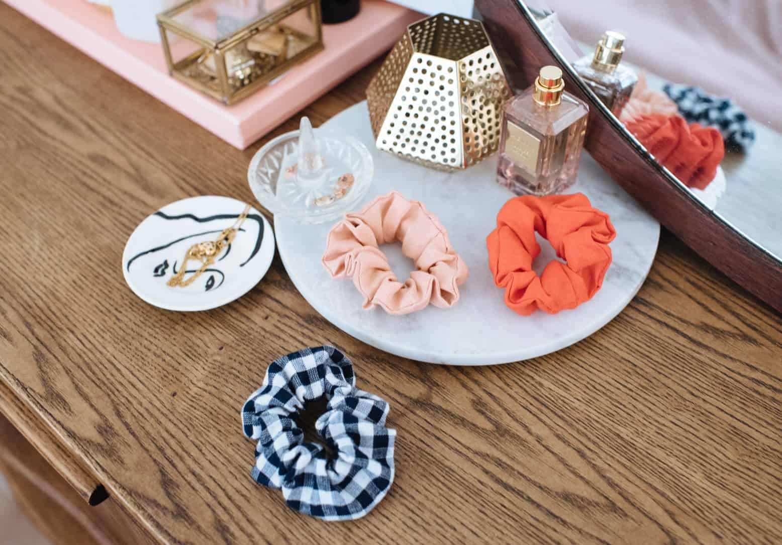 Diy linen scrunchies