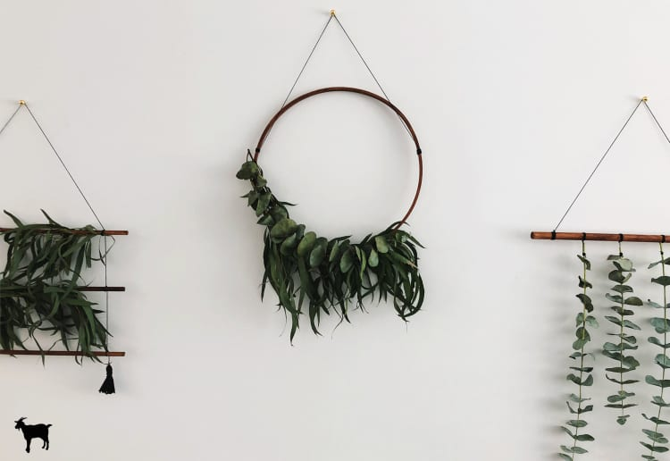 Diy live greenery wall hangings