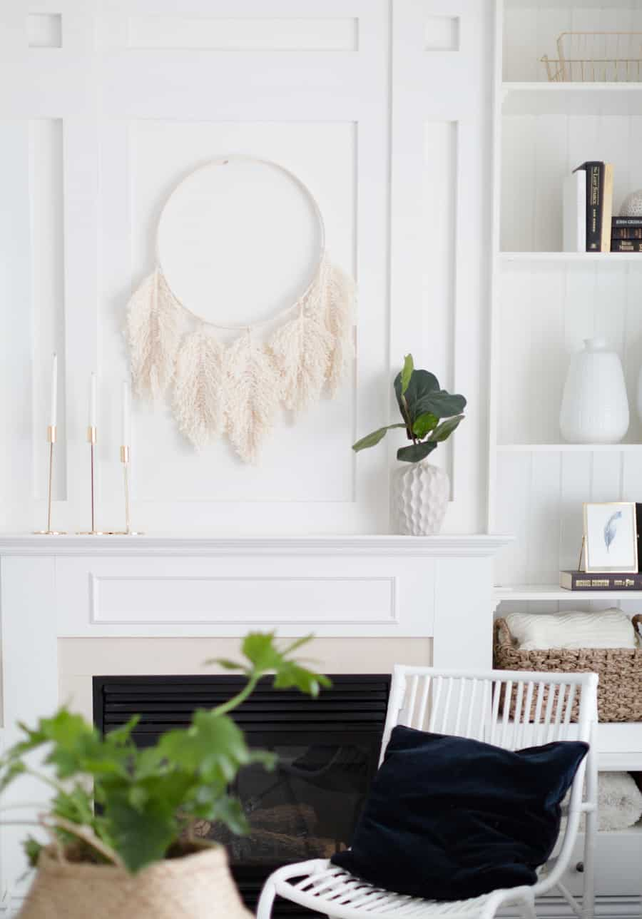 Diy macrame feather wreath