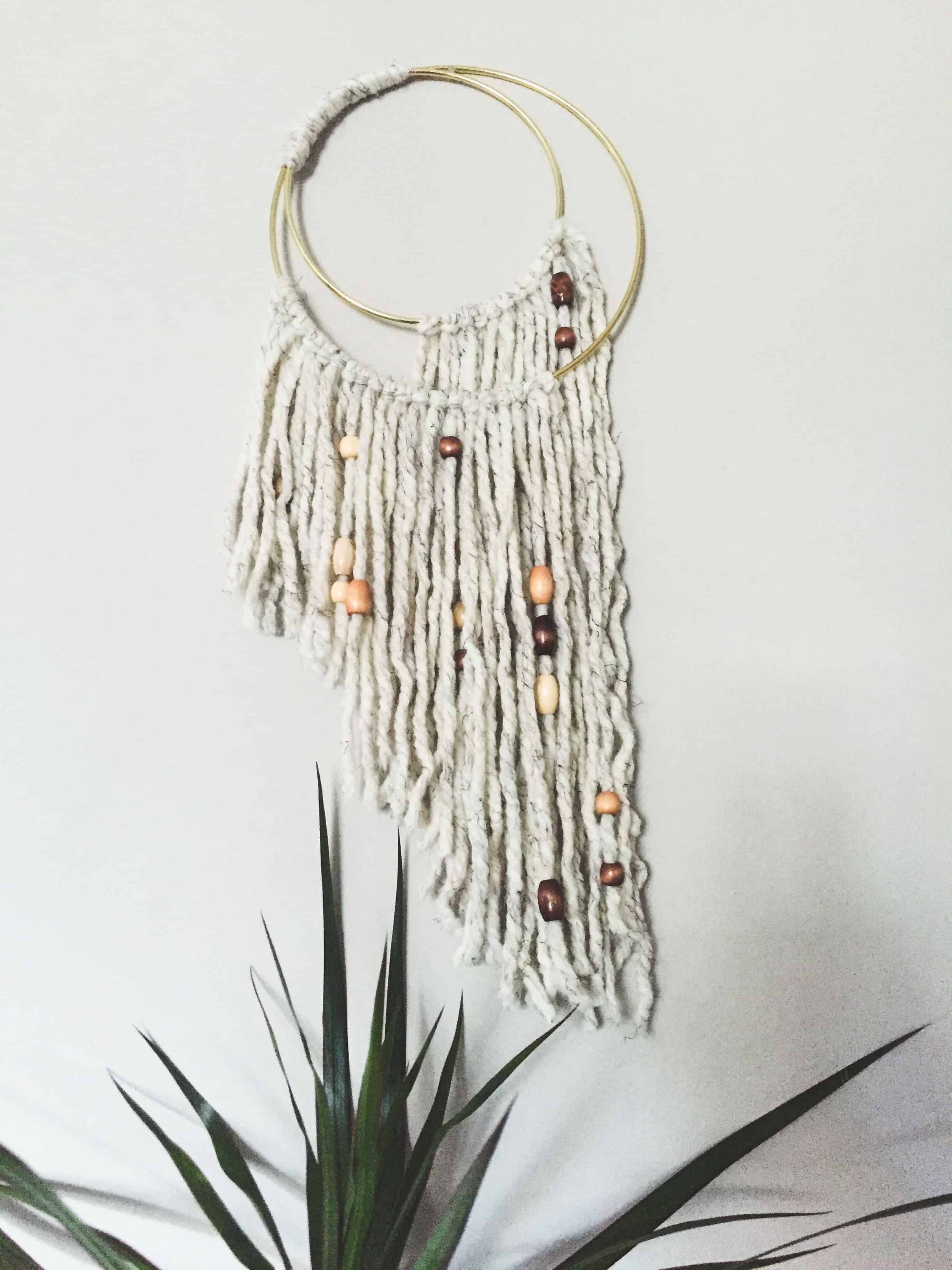 Diy macrame hanging with beads