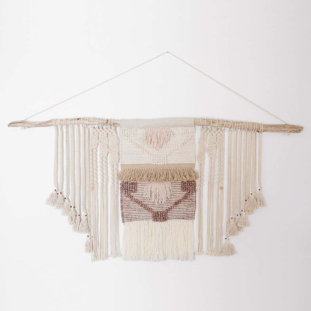 Diy macrame with driftwood
