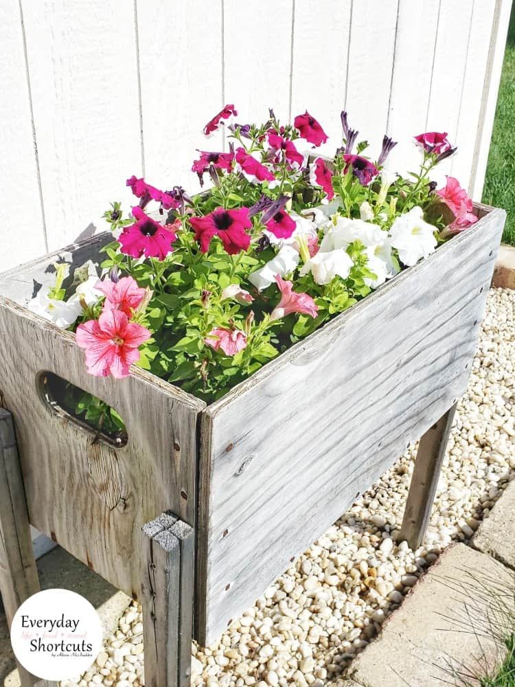 Diy raised flower bed