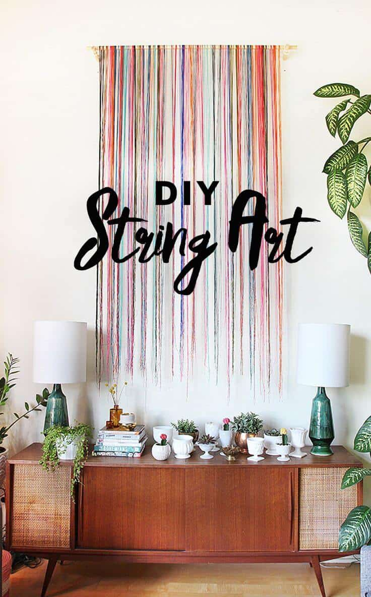 Diy string art wall hanging