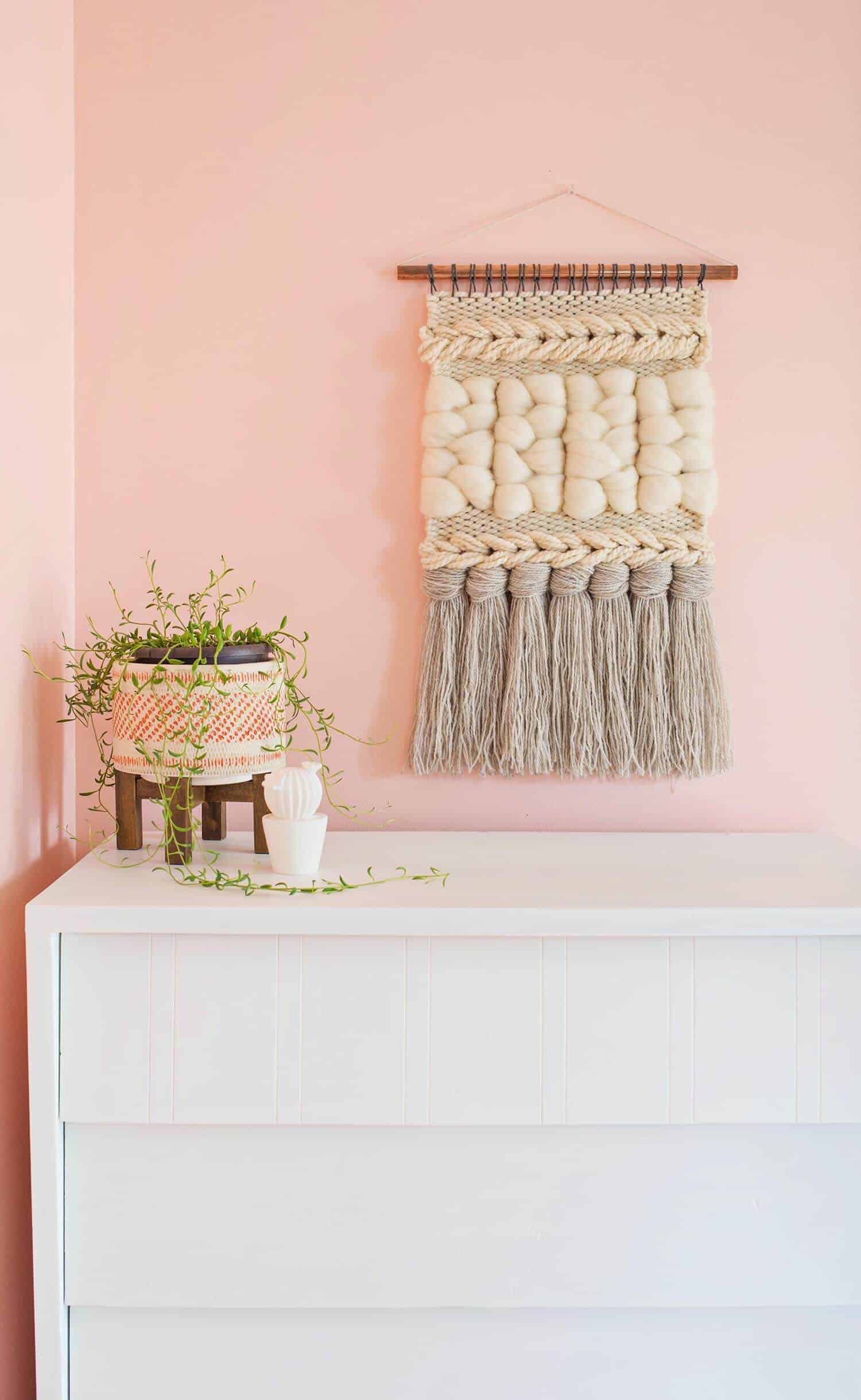 Diy weaved wall hanging