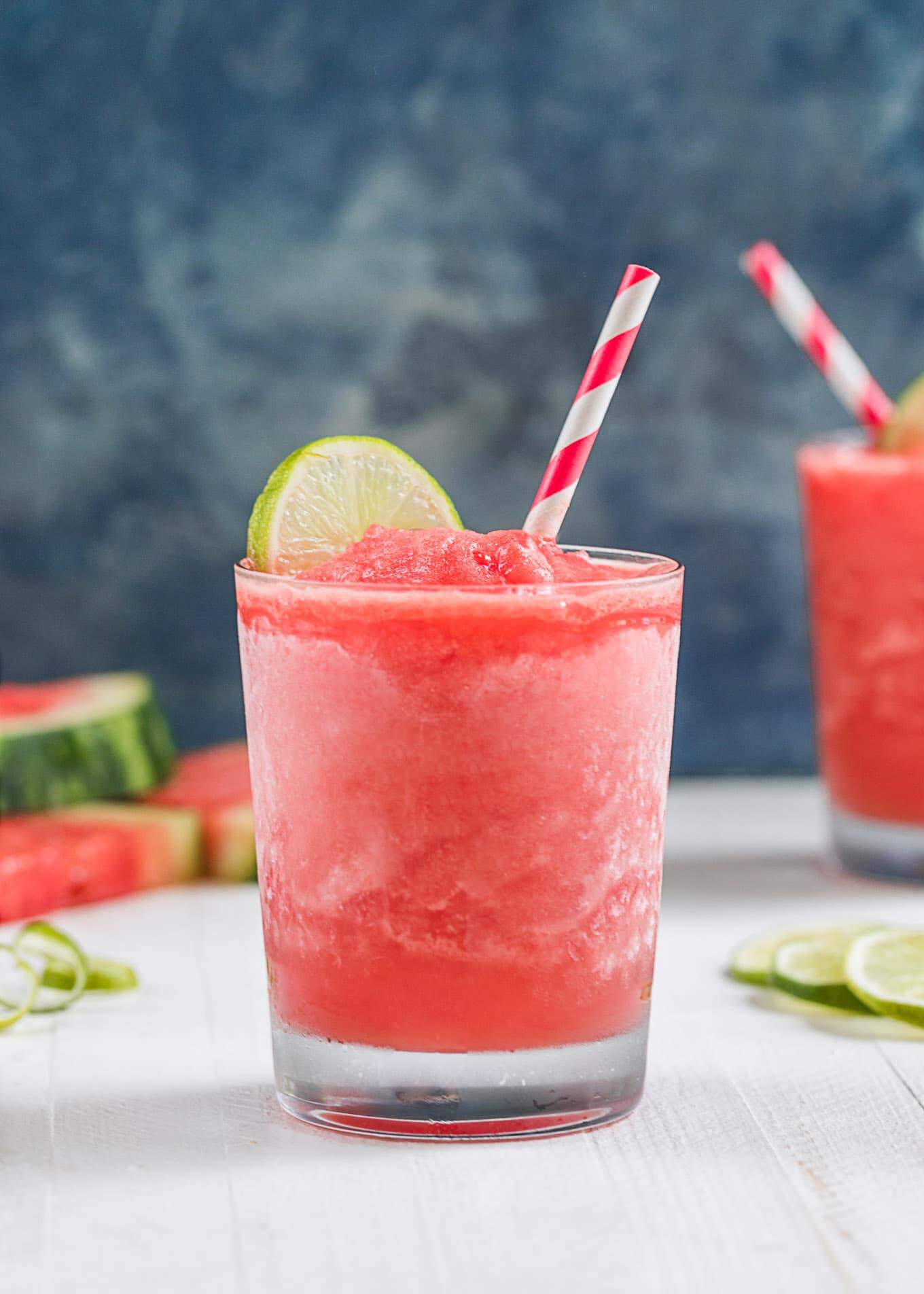 Frozen watermelon daiquiris