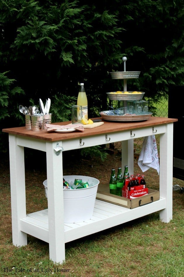 Outdoor buffet diy