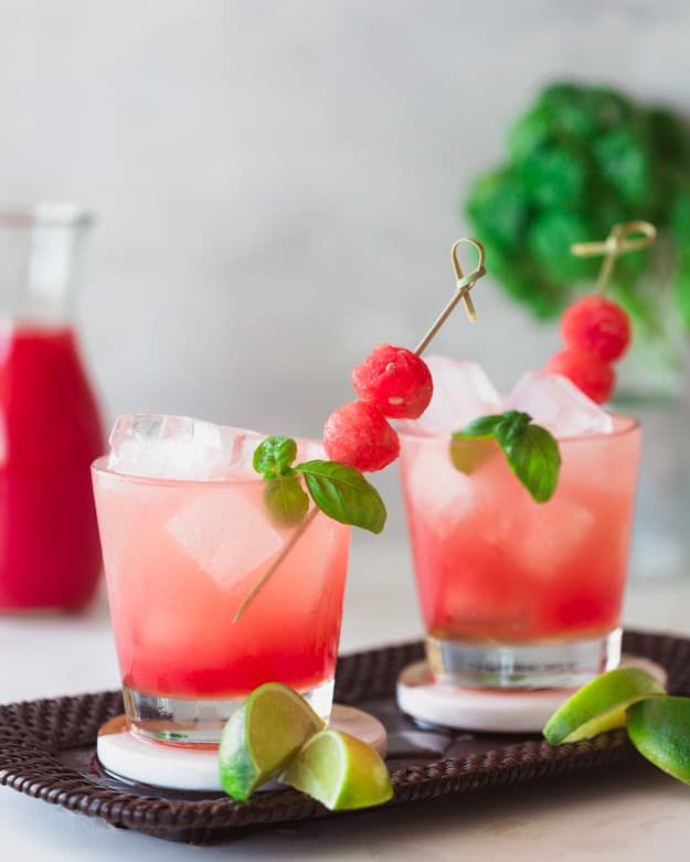 Watermelon basil cocktail recipe