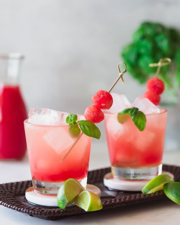 Watermelon basil cocktail recipe