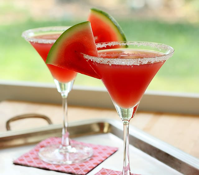 Watermelon martini cocktail