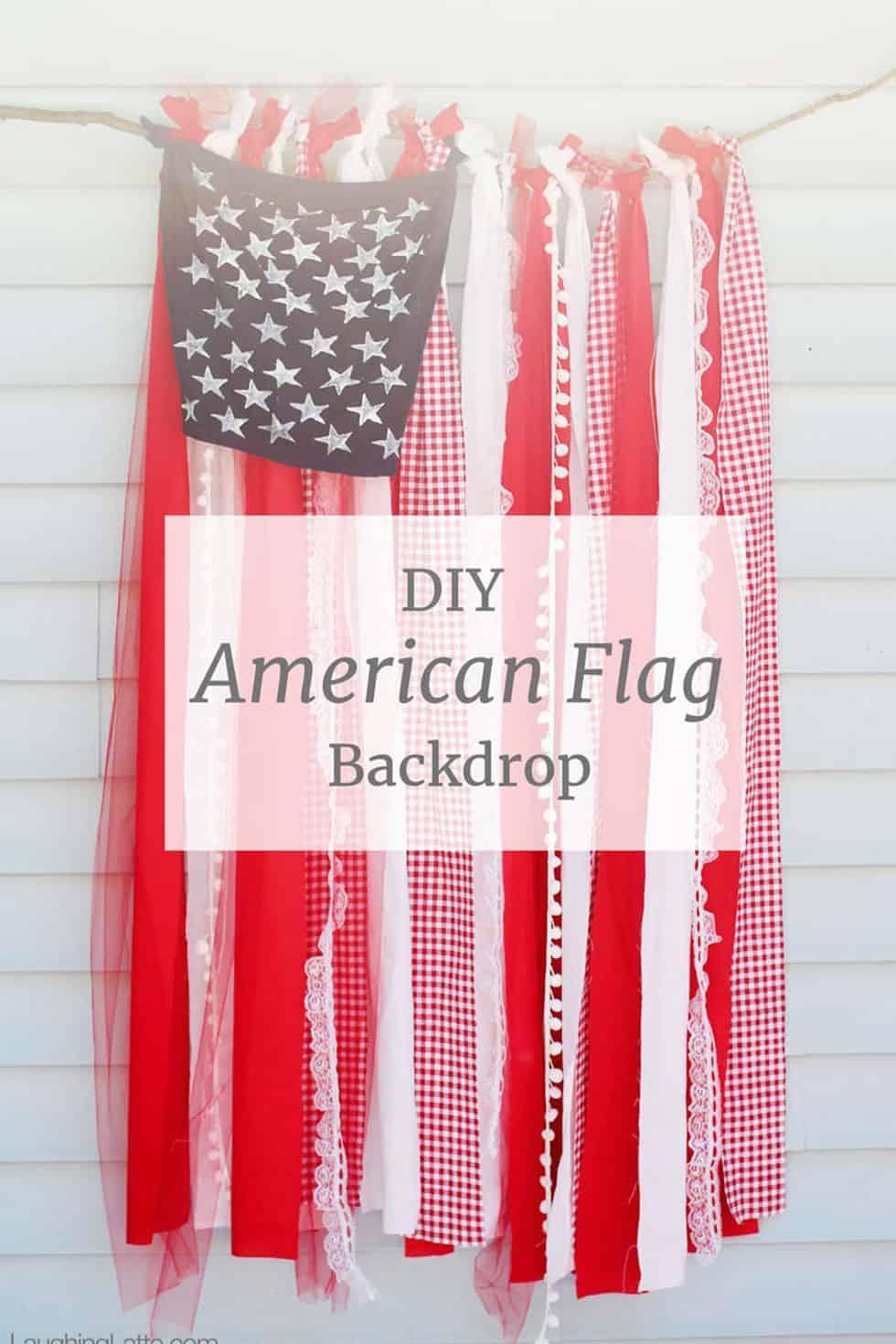 American flag ribbon background