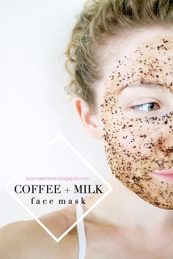 Anti aging coffee and milk mask
