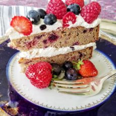 Berry, mlke thistle, and rose hip healthy birhdaay cake