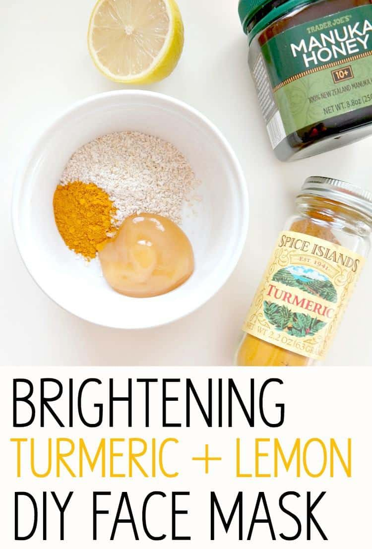 Brightening turmeric and lemon mask