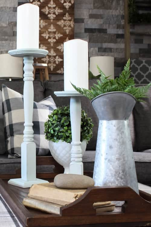 Candle holders spindle diy