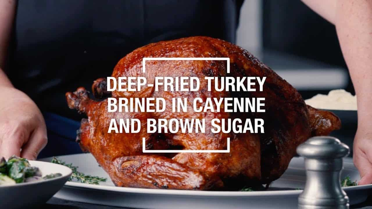 Cayenne pepper and brown sugar deep fried turkey