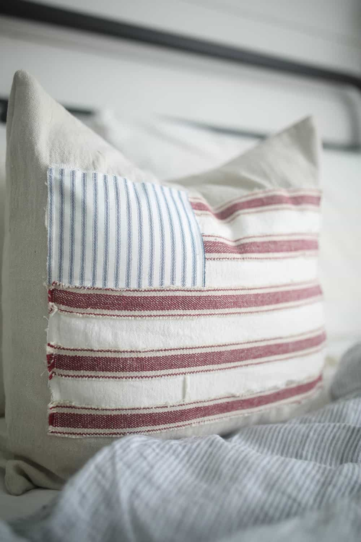 Diy American Flag Pillow Cover