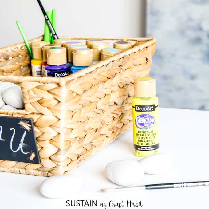 Diy craft kit with rocks
