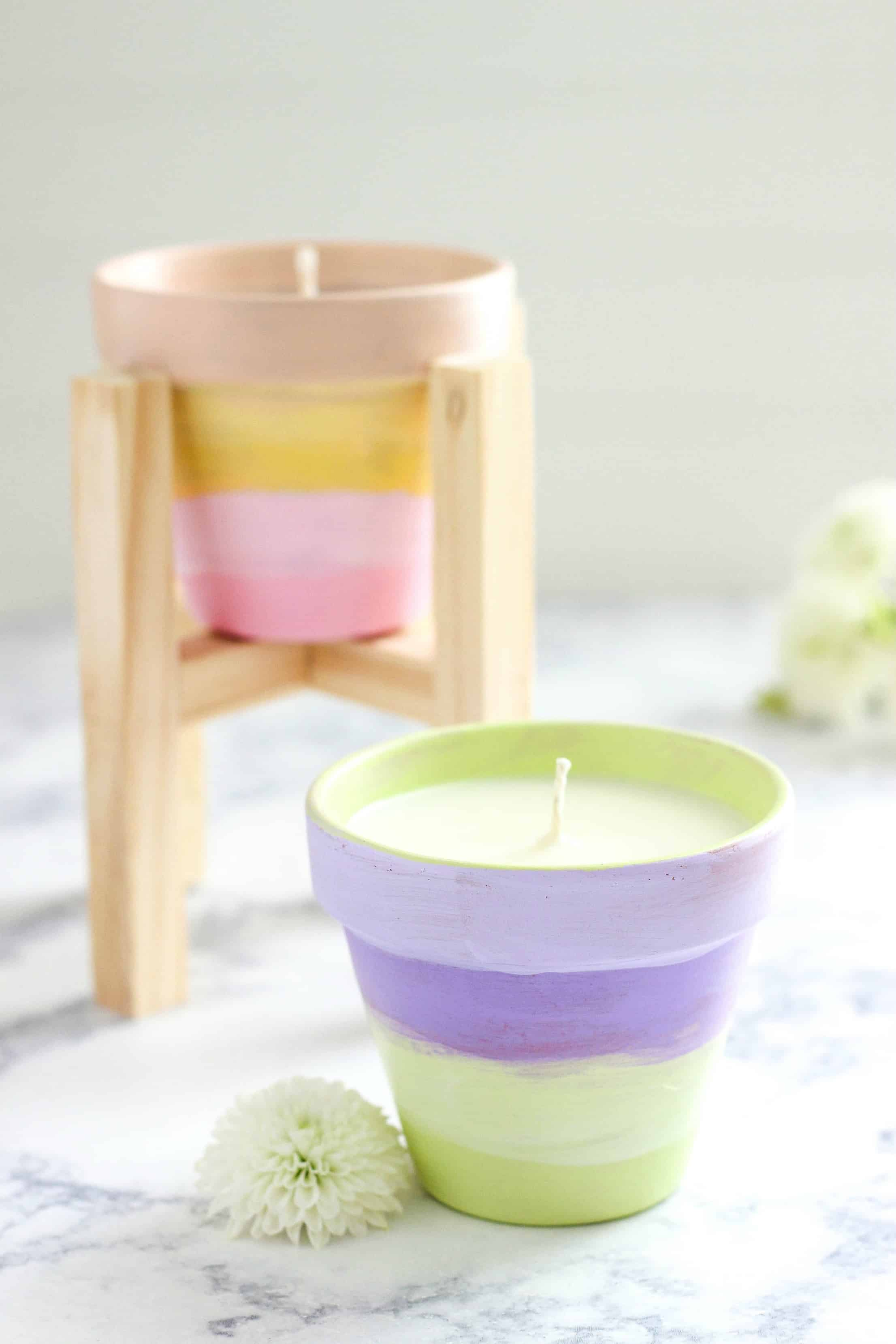 Diy terracotta citronella candle