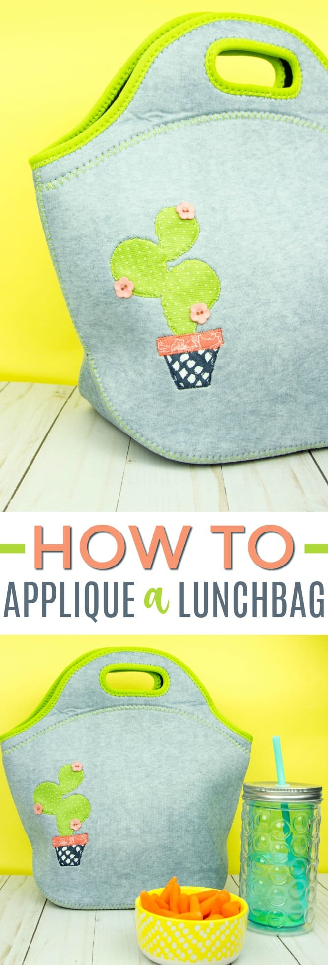 Diy applique lunch bag