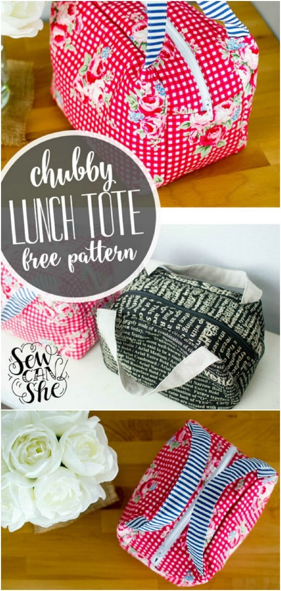 Diy chubby lunch tote
