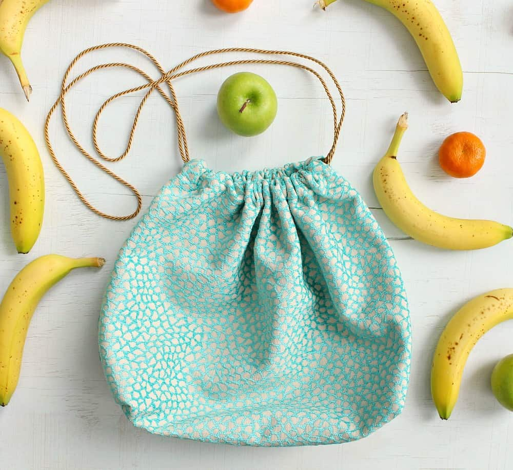 Diy drawstring lunch pouch