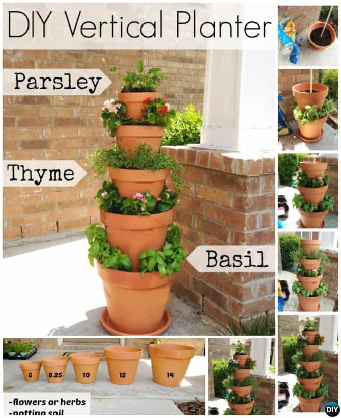 Diy vertical planters tower