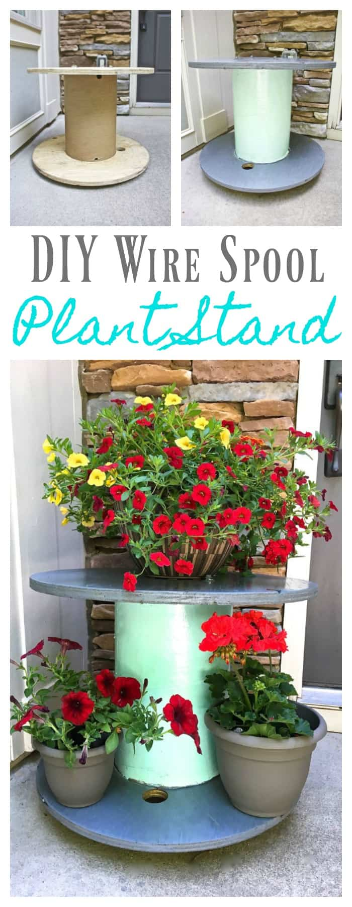Diy wire spool planter
