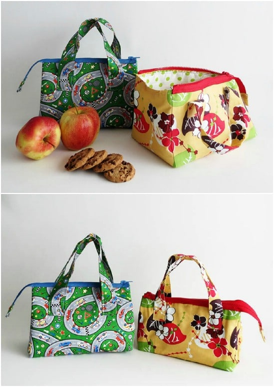 Easy lightweight zippered lunch bag