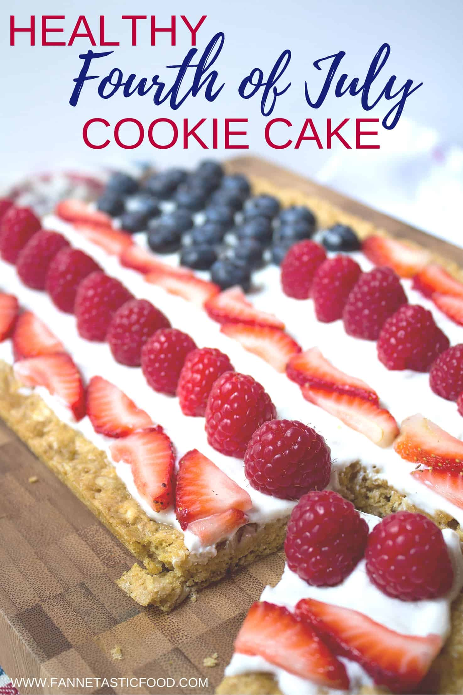 Fourth of july berry cookie cake