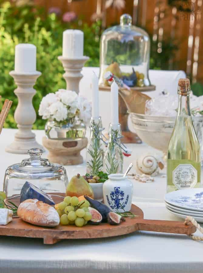 French inspired summer entertaining with candles