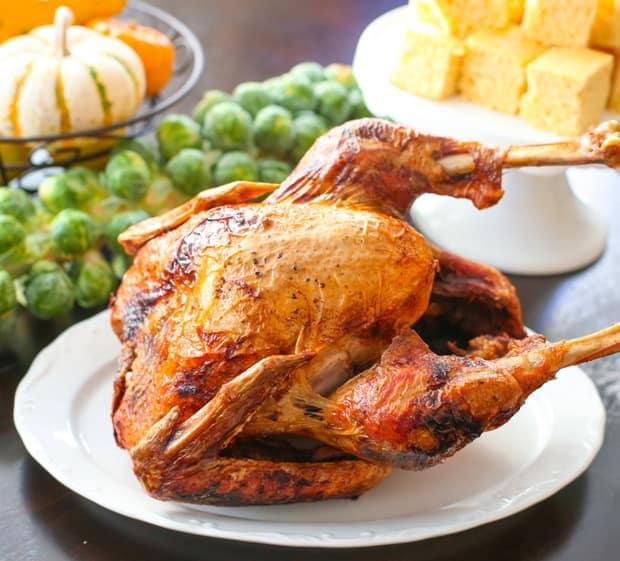 Garlic and herb deep fried turkey