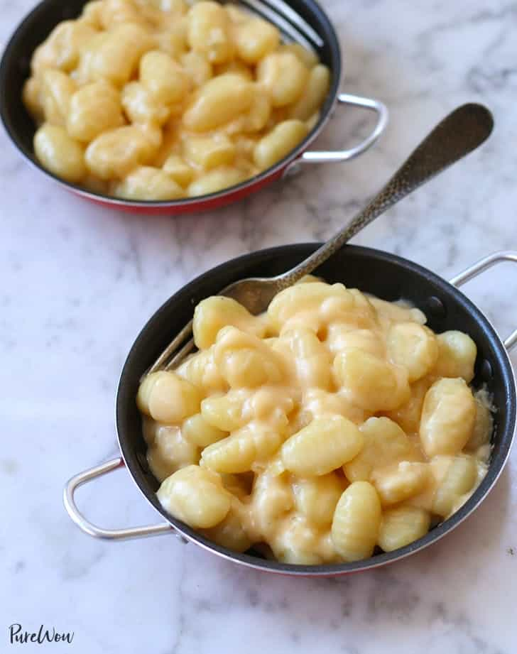 Gnocchi macaroni and cheese