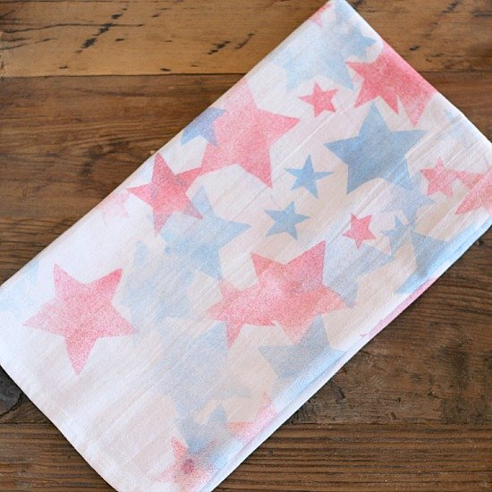 Hand painted patriotic hand towels