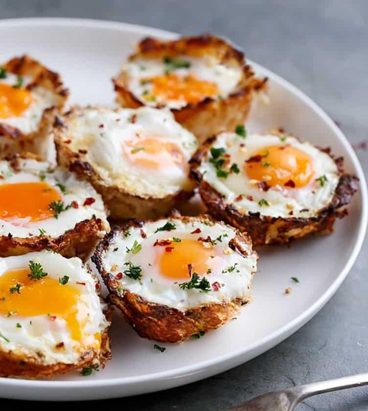Hasbrown yumurta bardakları