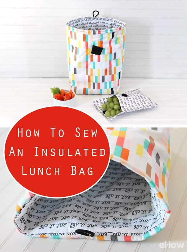 How to sew an insulated lunch bag