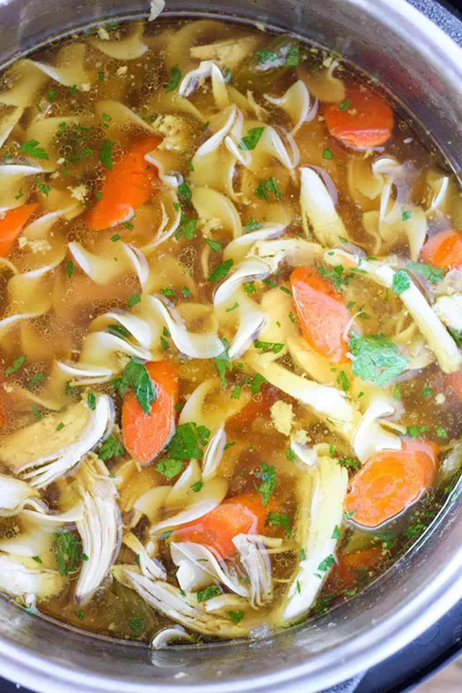Instant pot pressure cooker chicken noodle soup 5 645x968
