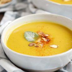 Instant pot butternut squash apple soup