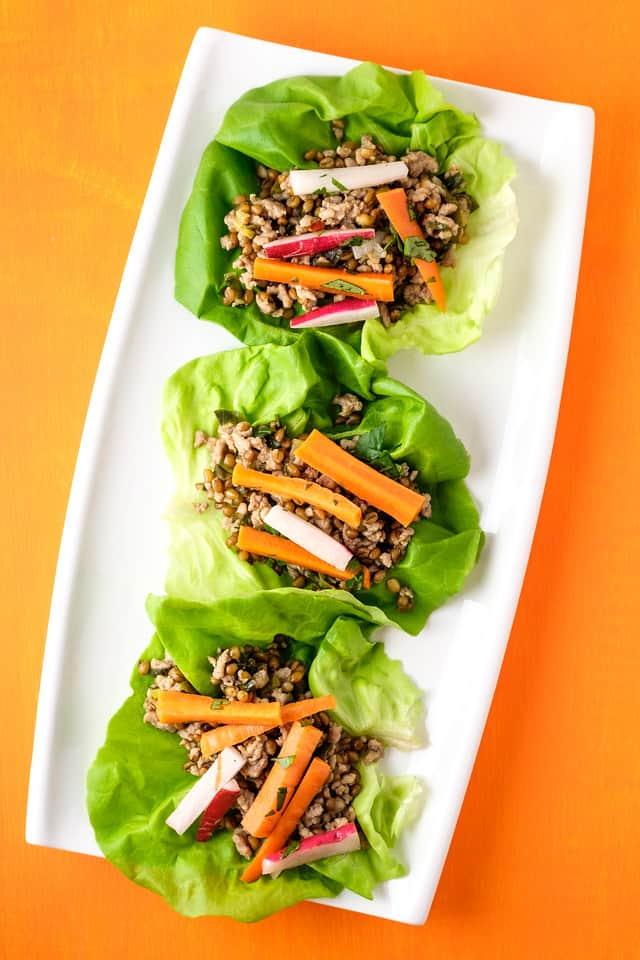 Instant pot pork lettuce wraps