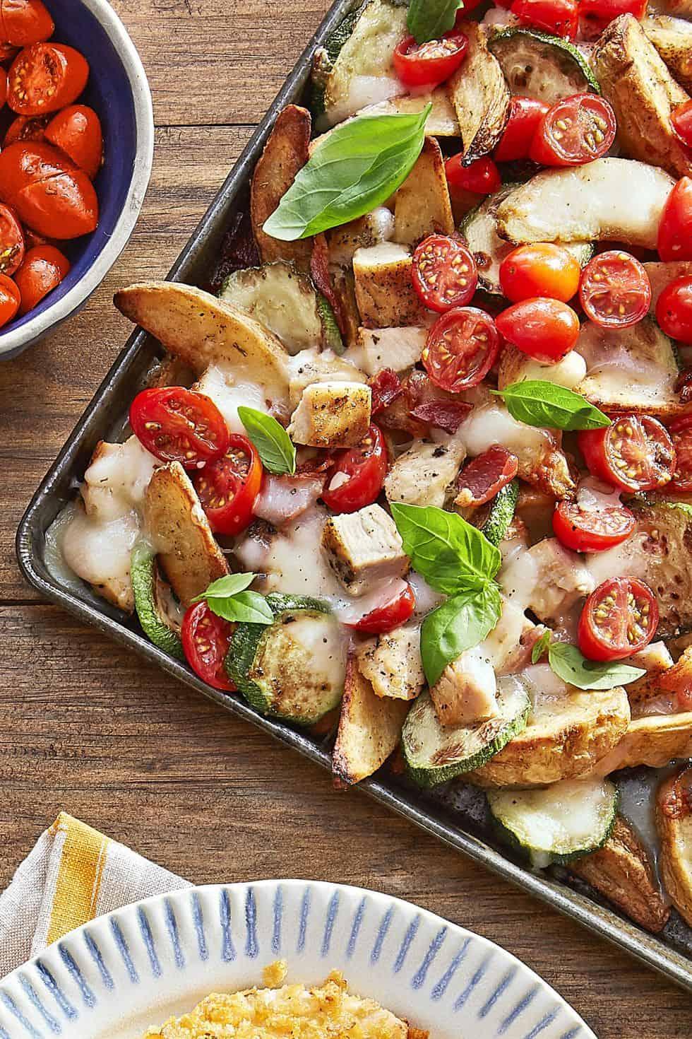 Italian potato wedge nachos