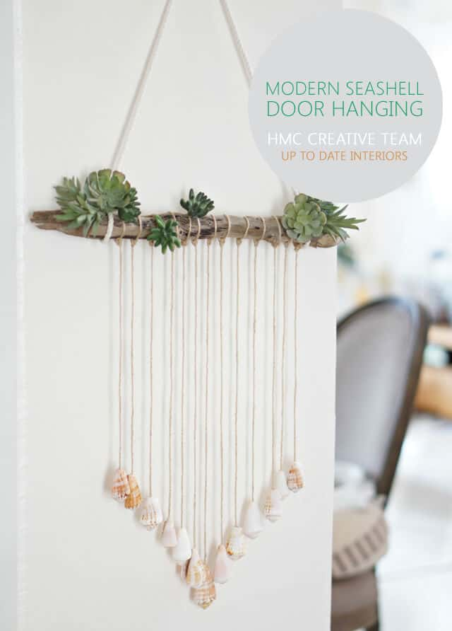 Modern seashell door hanging