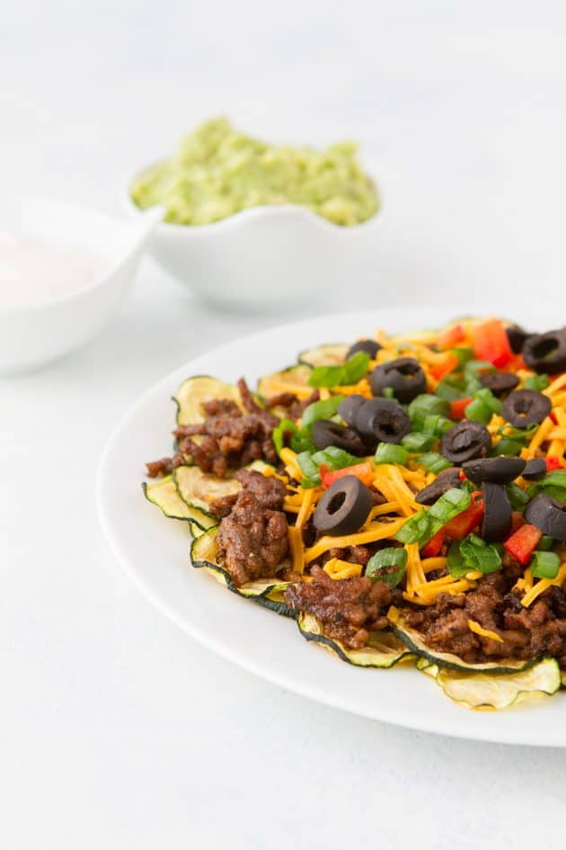 No dairy low carb zucchini nachos