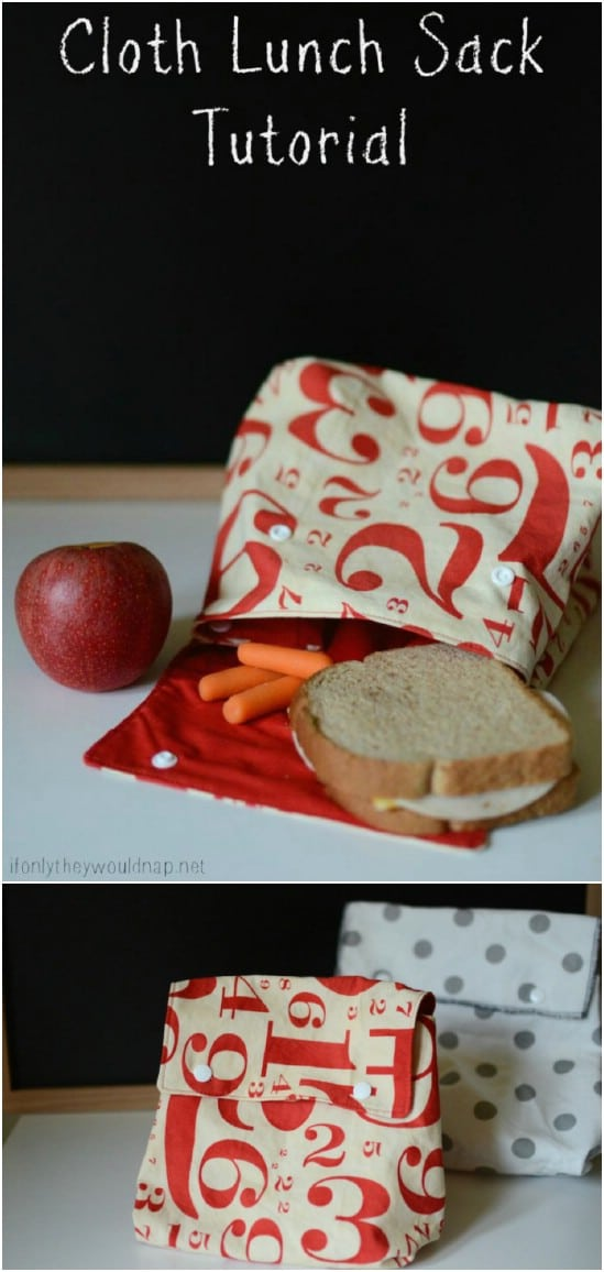 Old fashioned cloth lunch sack