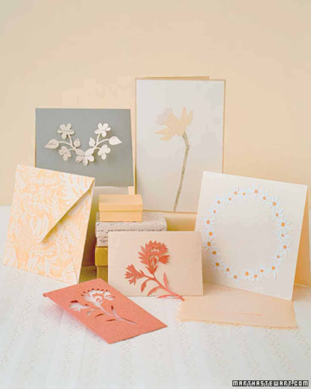 Paper flower cutout cards