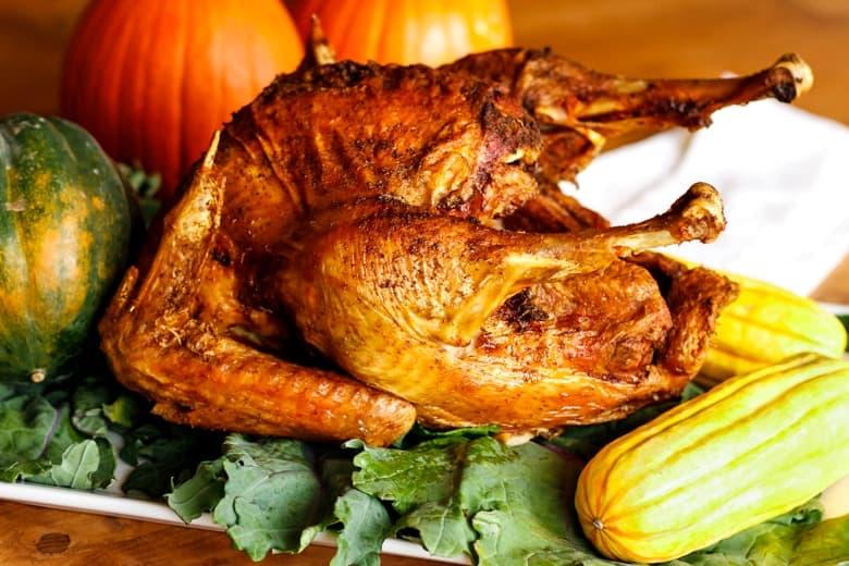 Peanut oil deep fried turkey