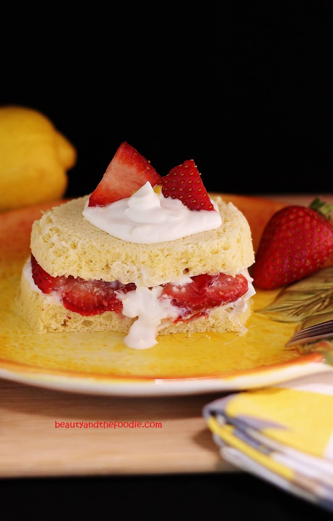 Quick low carb strawberry lemon shortcake