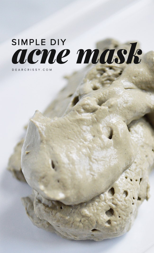 Simple diy acne mask